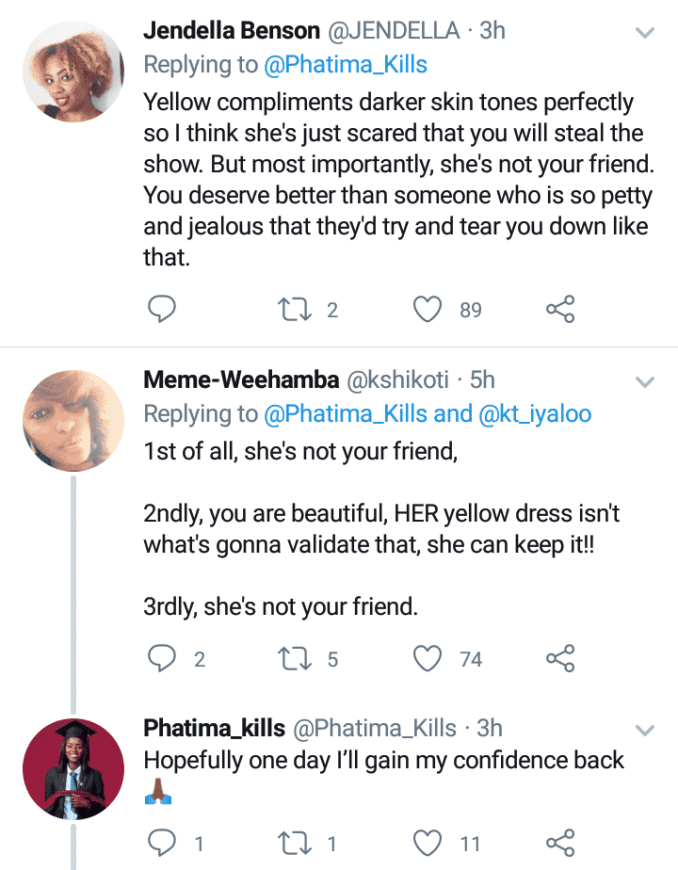 Social media users react as lady who her friend said she can't be her bridesmaid cries out