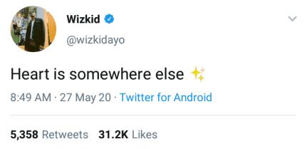 Wizkid replies surprises fan