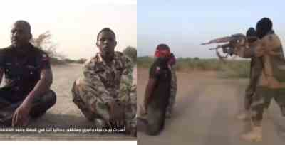 Boko Haram releases gruesome video executing Nigerian Soldier and Police officers (Video)
