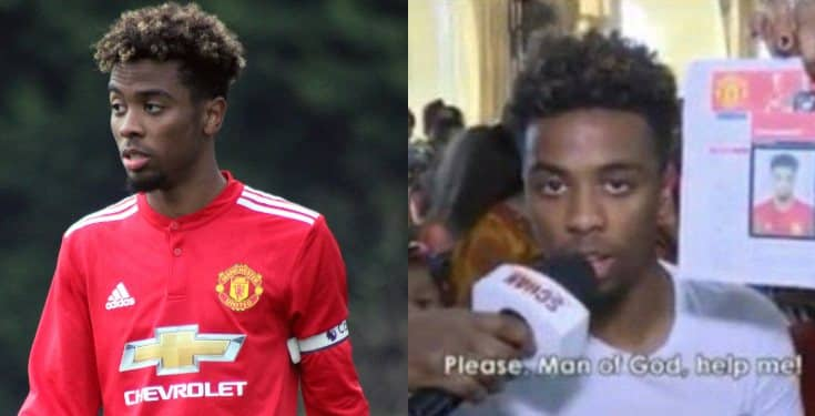 Video of when Man United player, Angel Gomes visited TB Joshua for healing surfaces online