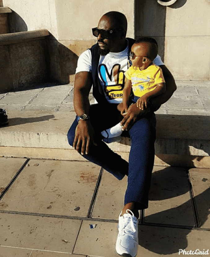 Jim Iyke and son visit the Eiffel Tower