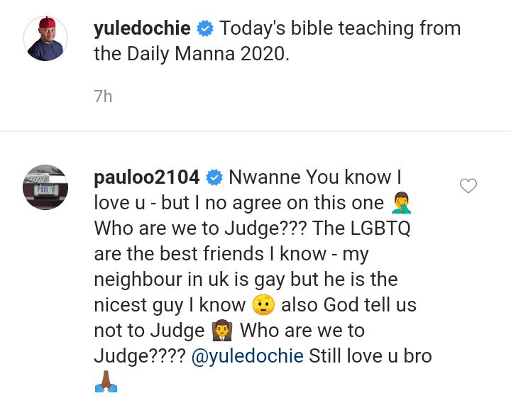 Paul O calls out Yul Edochie