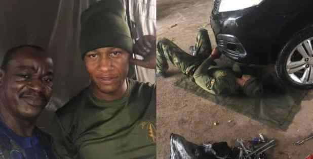 Nigerian man appreciates soldier who helped him when he was stranded
