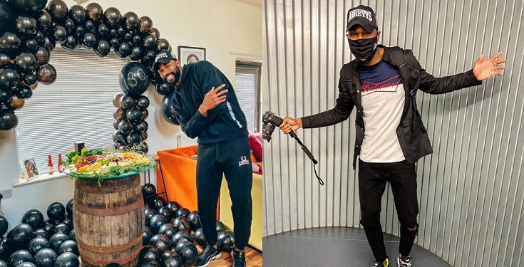 BBNaija's Mike Edwards Celebrates 30th Birthday In Balloon Themed Photos