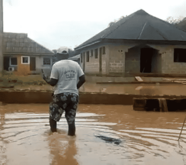 Funke Akindele gifts Pa James a new house