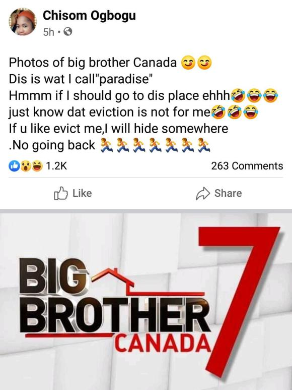 """""""This is what I call paradise"""" – Lady says as she shares photos of Big Brother's house in Canada"""