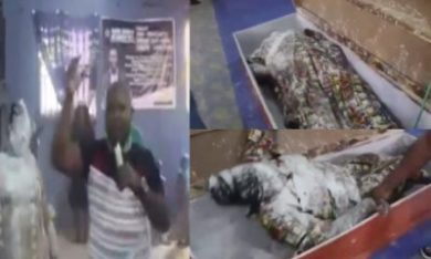 Watch as Pastor Orumgbe allegedly raises a dead woman during a service