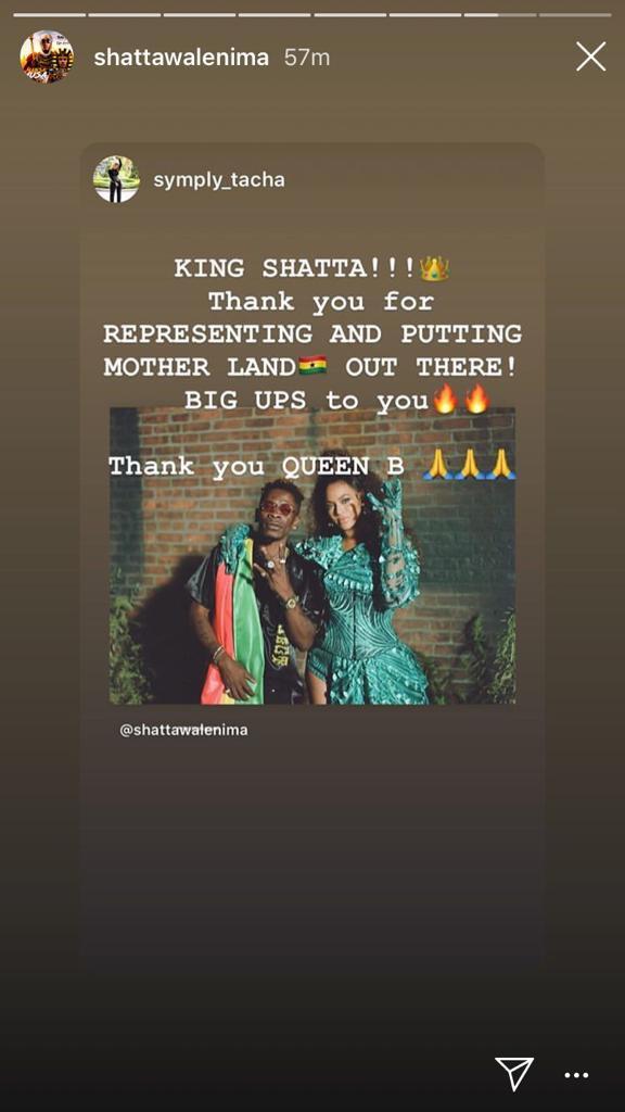 Tacha congratulates Shatta Wale