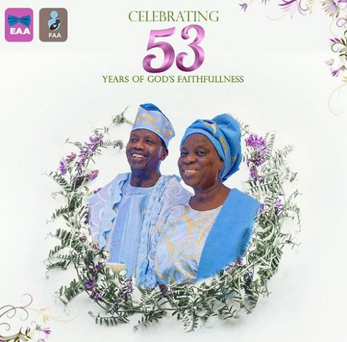 Pastor Adeboye Wedding Anniversary