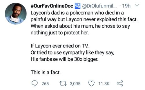 How Laycon's father died