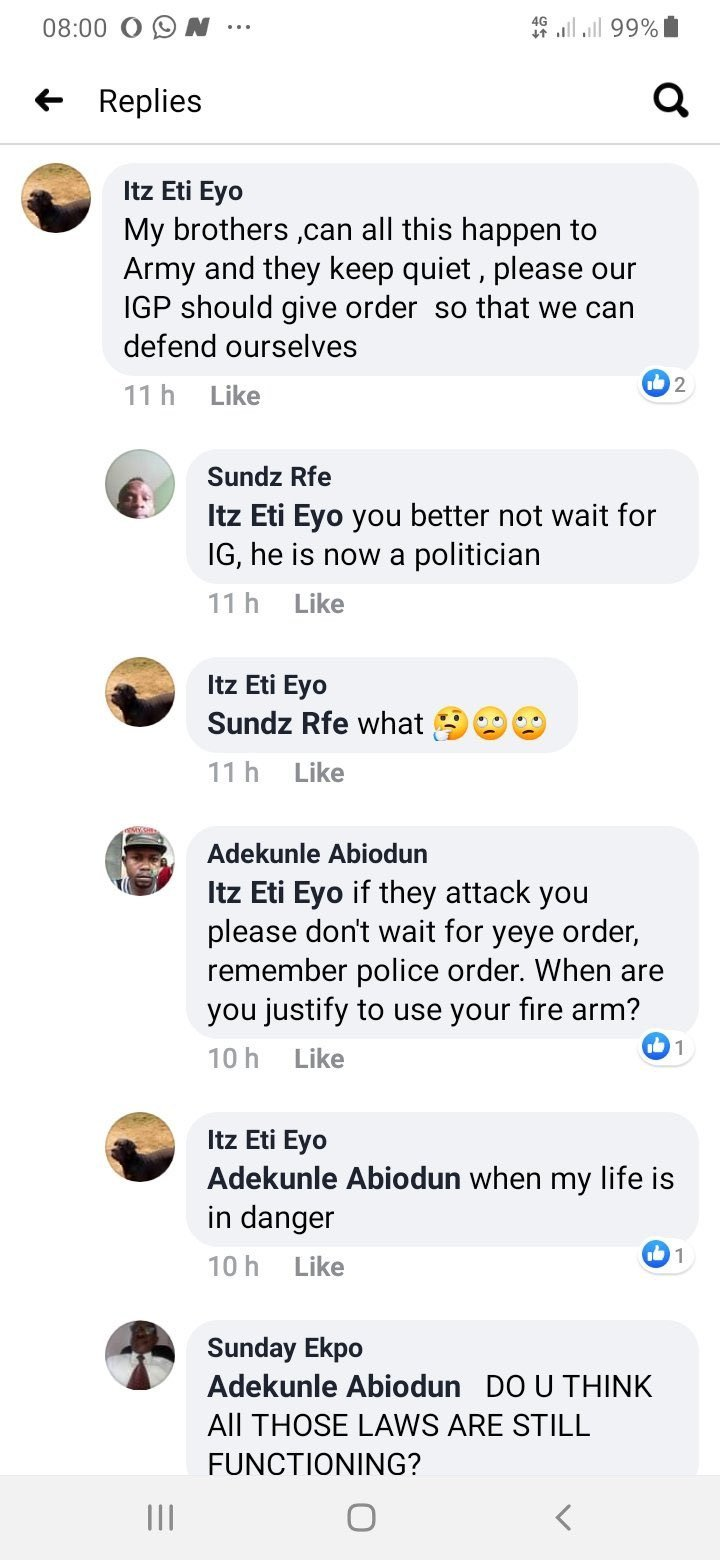 Policemen to shoot #EndSARS protesters