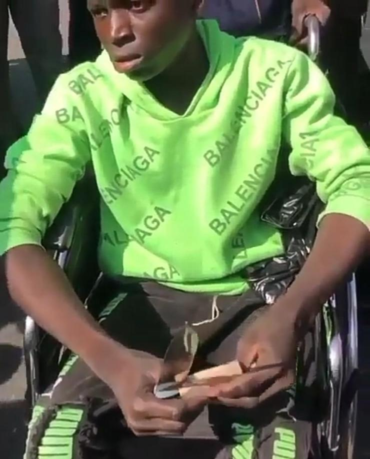 #EndSars: I was paid N500 to bring a knife to the protest ground – Man confesses (Video)
