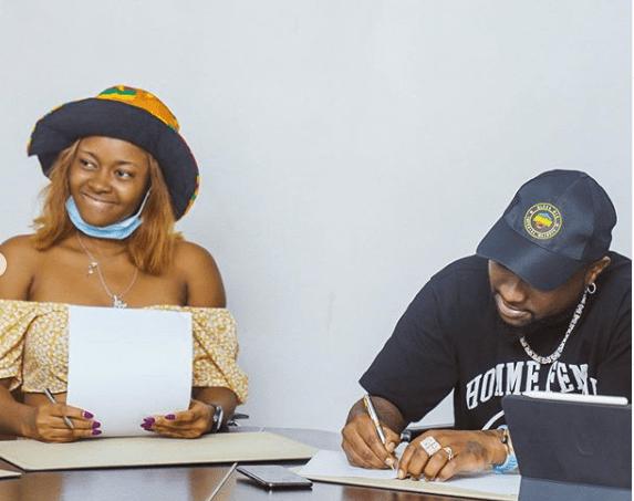 Davido signs female artiste, Liya to DMW records