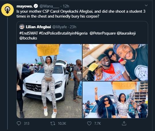 """Your mother shot UNIBEN student in 2013"" – Nigerians blast actress Lilian Afegbai"