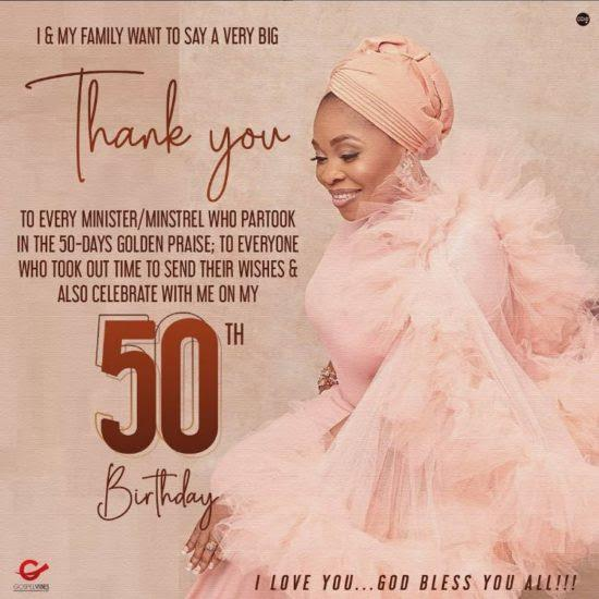 tope alabi 50th birthday