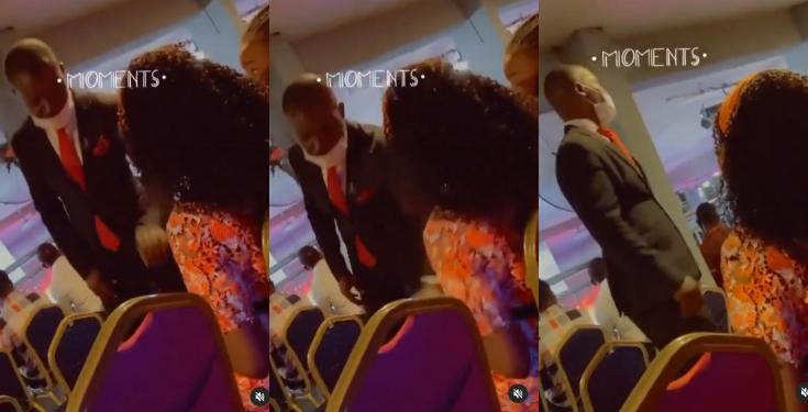 Moment usher tried to seize a church member's phone in church (Video)