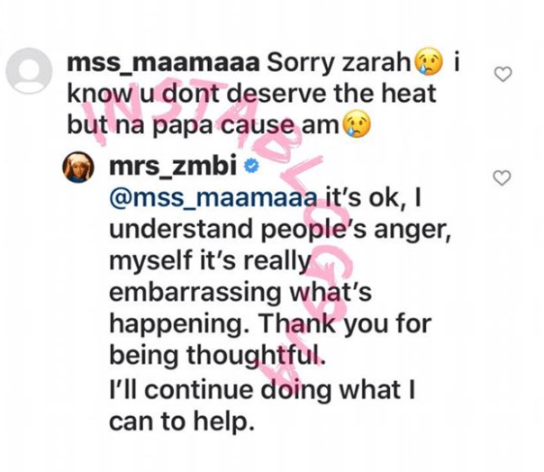 #EndSARS: I understand people's anger, it's really embarrassing what's happening – Buhari's daughter, Zahra