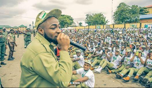 davido serving nysc after graduating from school