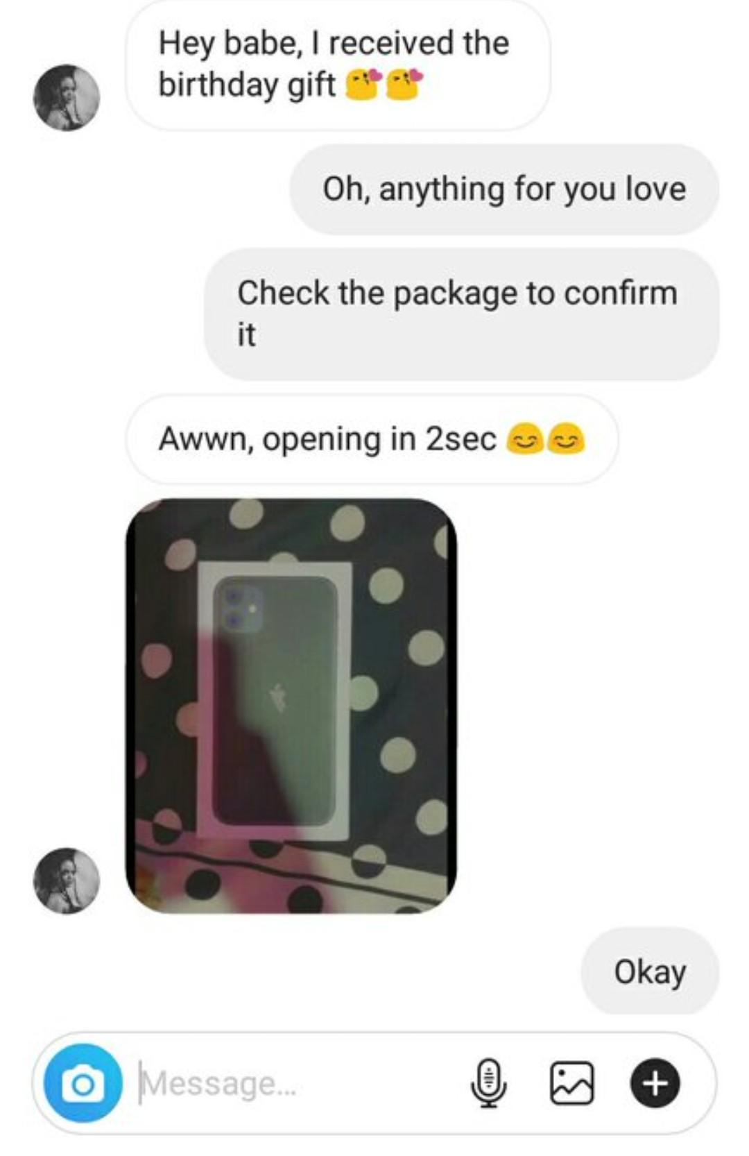Girl blasts boyfriend who gifted her onions packaged inside iphone11 pack on her birthday (Photos) 3