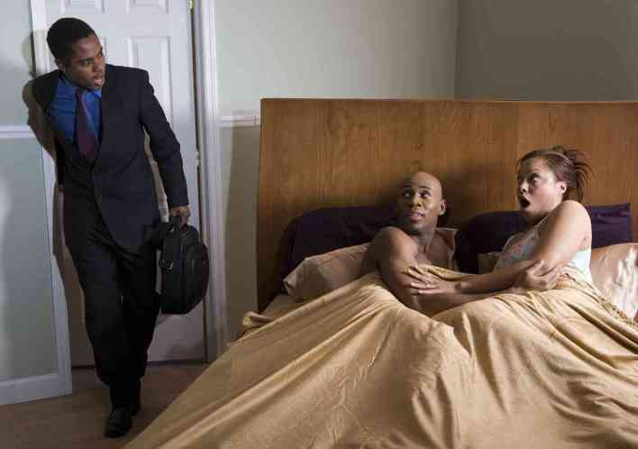 cheating man woman