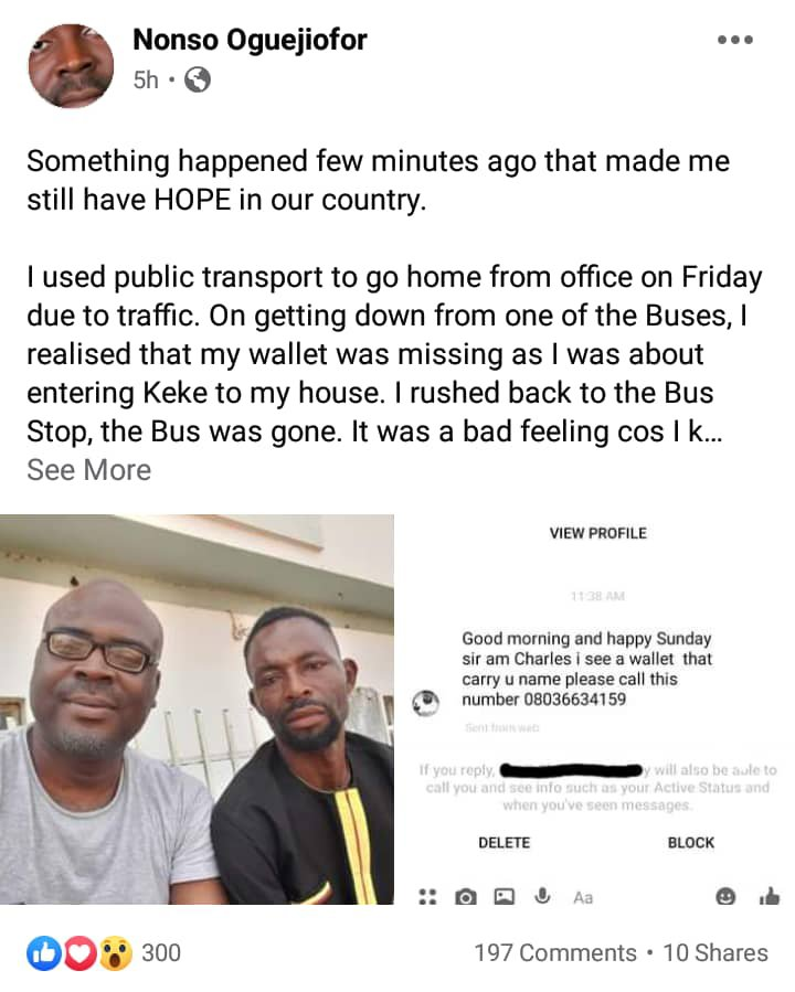 Man returns missing wallet