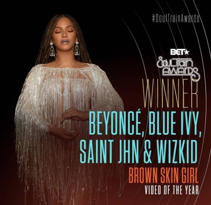 Wizkid wins Soul Train Award
