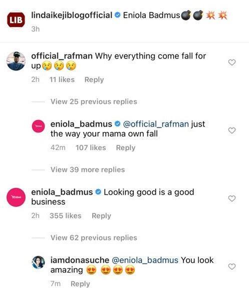 Eniola Badmus knocks fan that mocked her brea$t in bikini photo 1