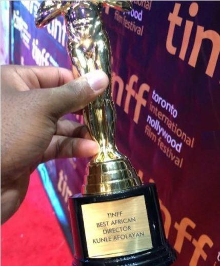 Movie producer, Kunle Afolayan showcases his collection of prestigious awards 5