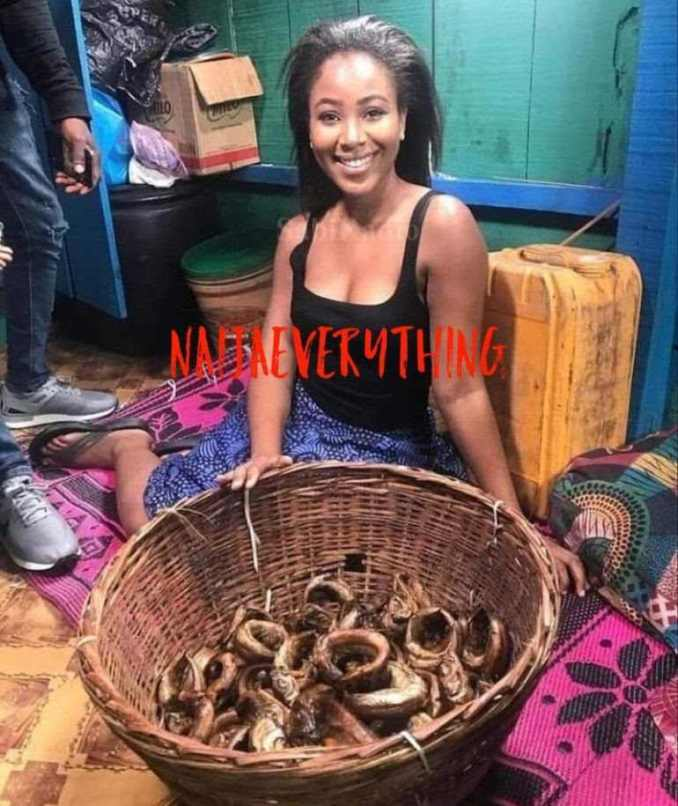 throwback photo erica selling fish