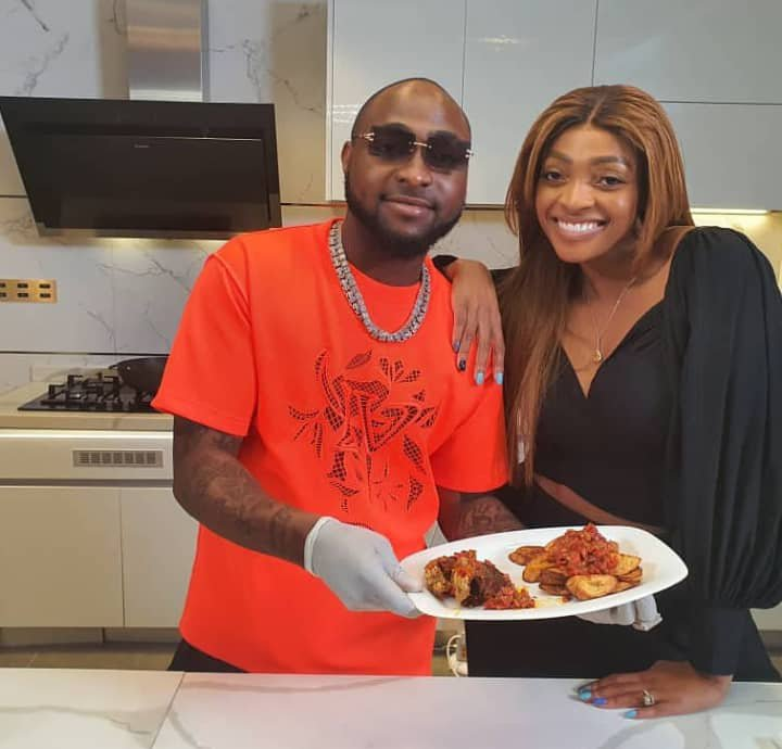 Davido shows off his cooking skills