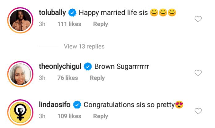 Ini Edo holds secret wedding