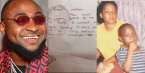 Davido Shares Beautiful Old Letter He Wrote For His Late Mother