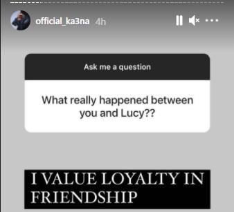 """""""I can't keep friendship I can't confide in"""" - Ka3na speaks on breakoff with Lucy"""