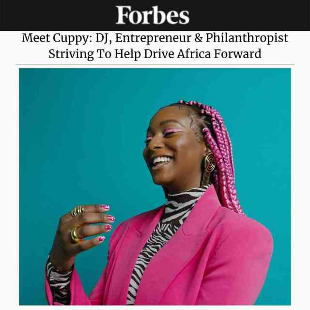 Dj Cuppy jubilates as she features on Forbes Magazine