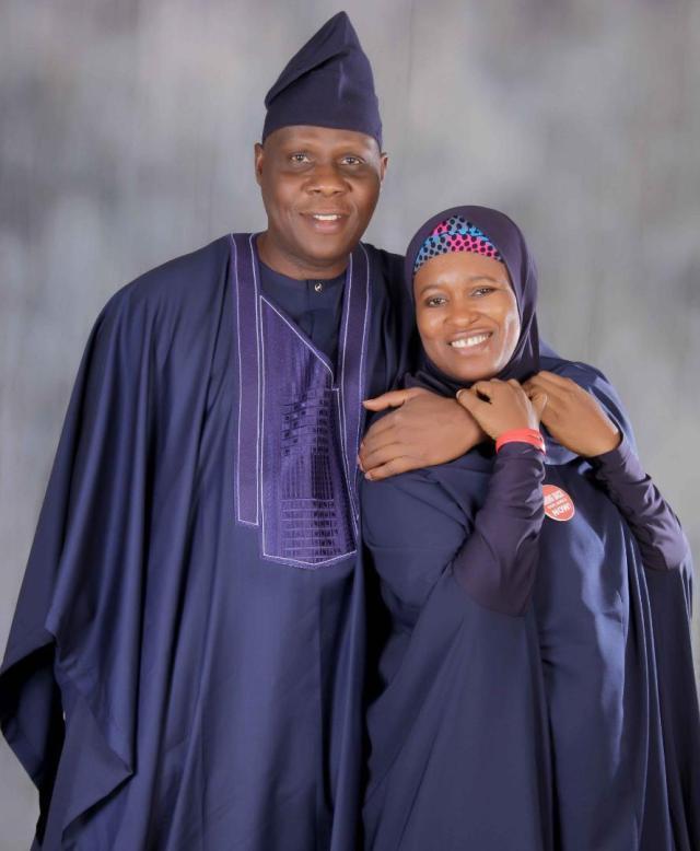 Activist Aisha Yesufu and Husband