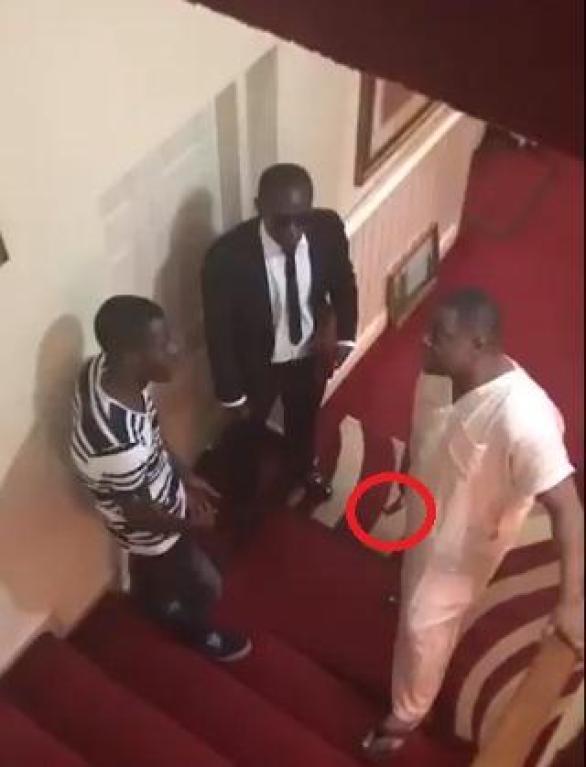 Femi Fani-Kayode caught on tape threatening staff with a hammer (Video)