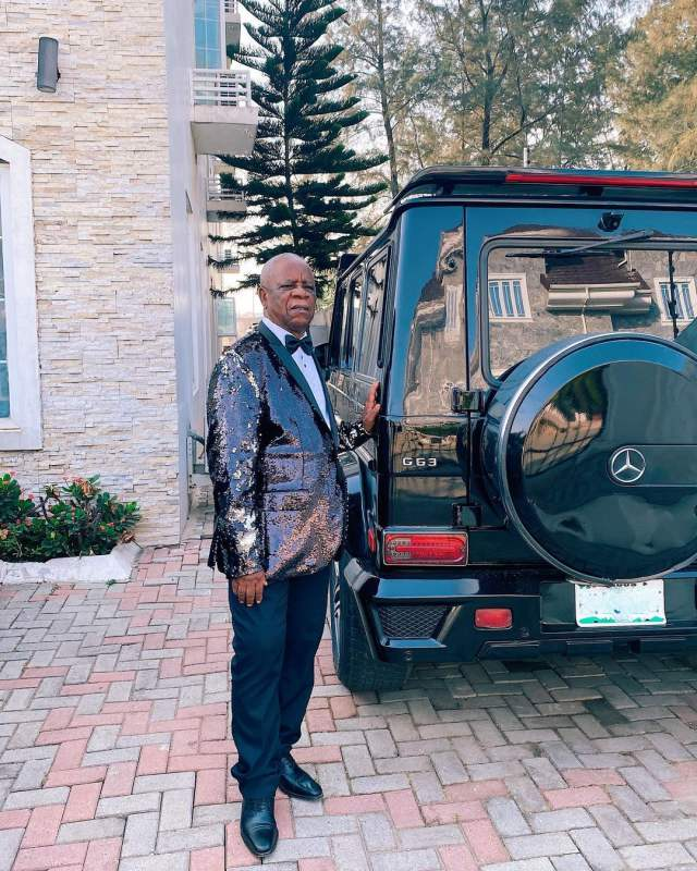 Laura and Linda Ikeji's father receives G-Wagon as he celebrates birthday
