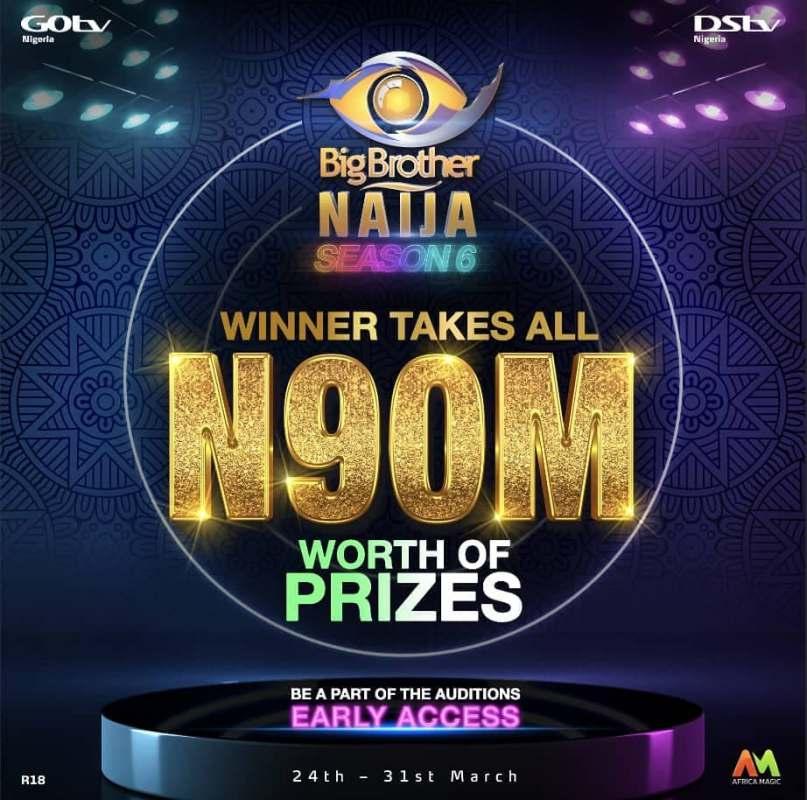 BBNaija Season 6: Multichoice announces grand prize of N90M