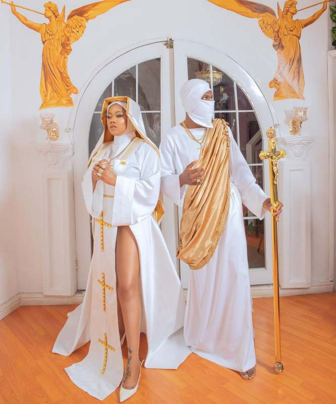 """This is blasphemous"" - Celebrity stylist, Toyin Lawani dragged over nun-themed photoshoot"