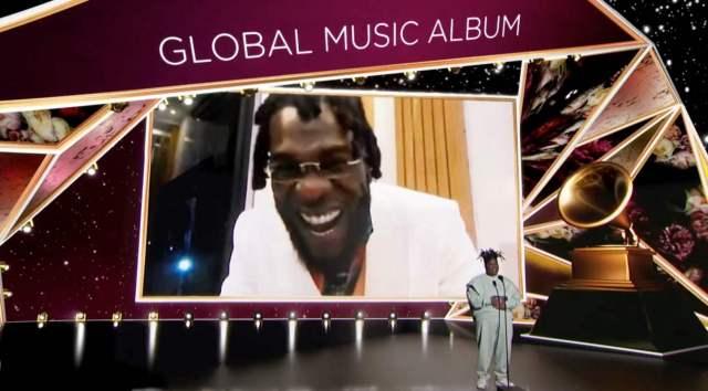#Grammys: Burna Boy's 'Twice as Tall' wins 'Best Global Music' award