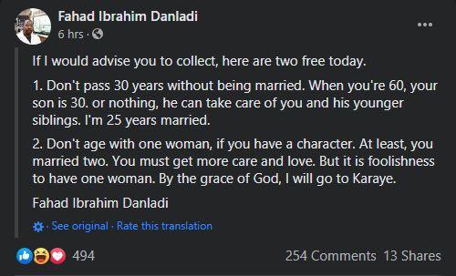 Men One Woman Facebook