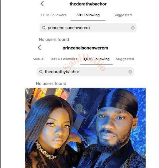 Prince and Dorathy unfollows one another