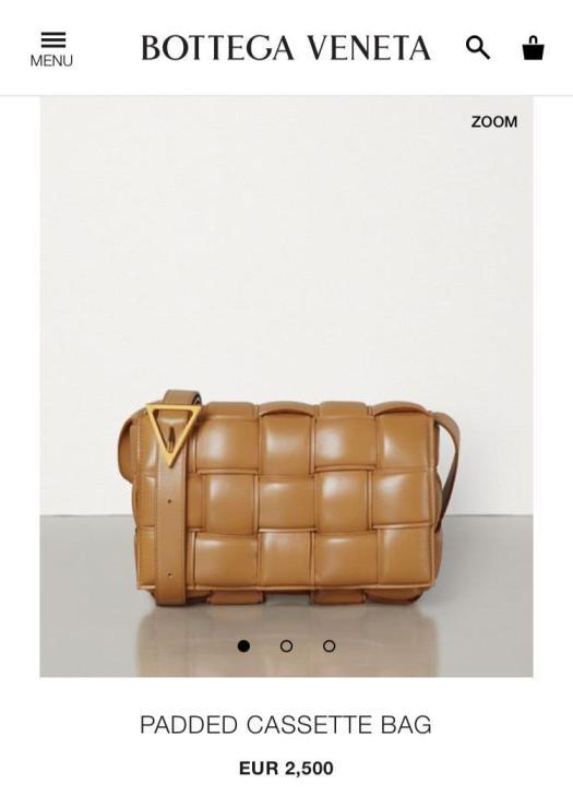 women's Bottega Veneta padded cassette handbag price