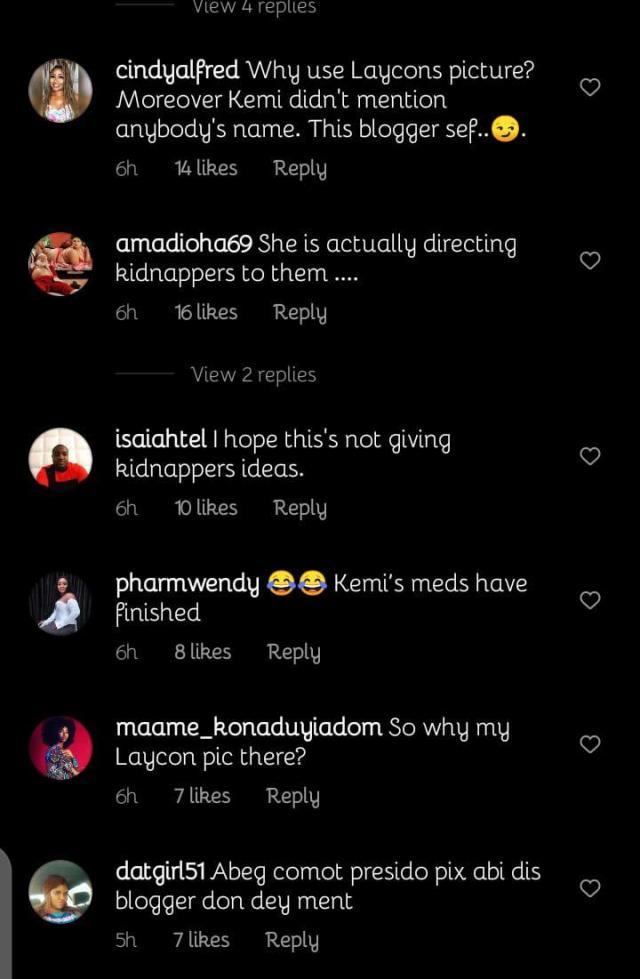 Kemi Olunloyo kidnap Laycon