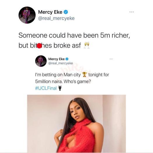 Mercy Eke Chelsea bet