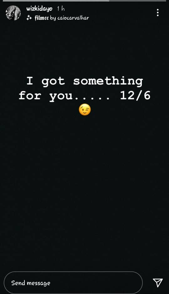 Star boy Wizkid give hints on the release date of his new project