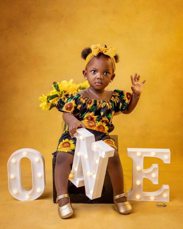 Adekunle Gold and his wife, Simi celebrates daughter's first birthday