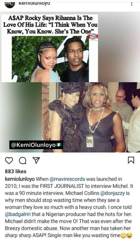 """Another man has taken her, single man like you wasting time"" - Kemi Olunloyo mocks Don Jazzy"