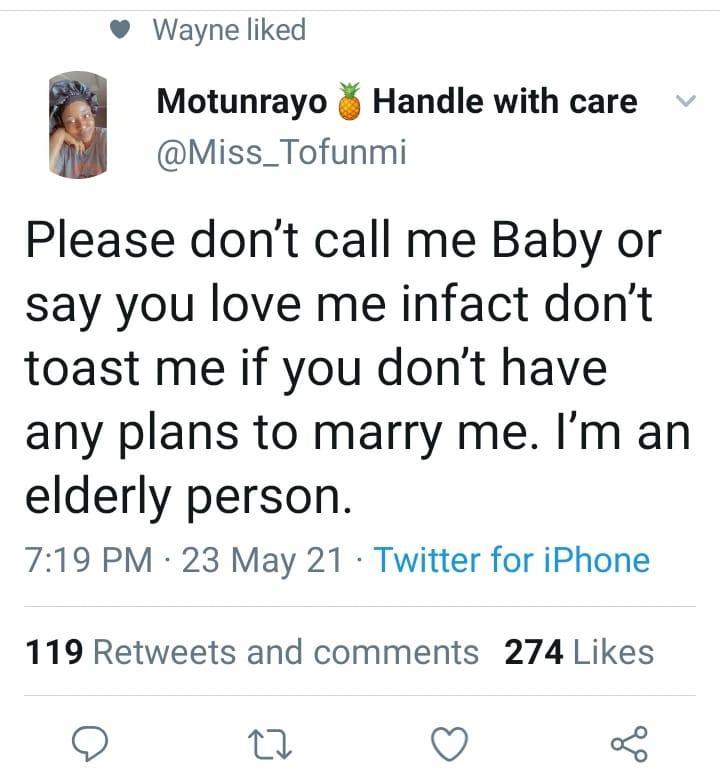 lady warn baby men