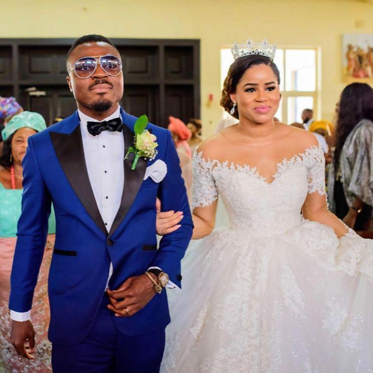 Footballer, Emmanuel Emenike and wife, Iheoma Nnadi, celebrates their 4th wedding anniversary (Photos)